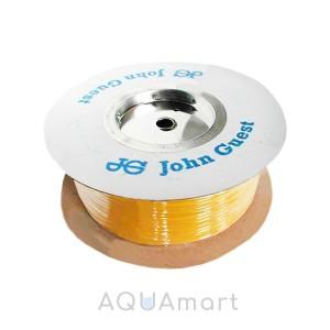 """Трубка John Guest PE-08-BI-0500F-Y 1/4"""" для фильтров (желтая, 1 метр)"""